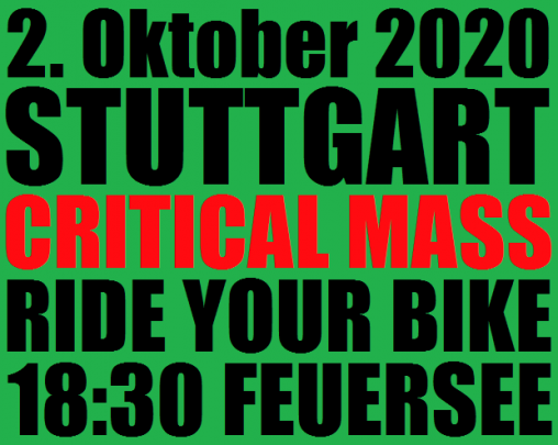 Critical Mass Stuttgart 10/2020